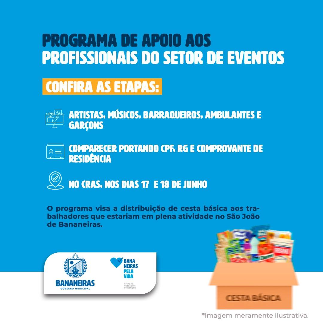 Secretaria de desenvolvimento social lança programa de apoio aos profissionais do setor de eventos