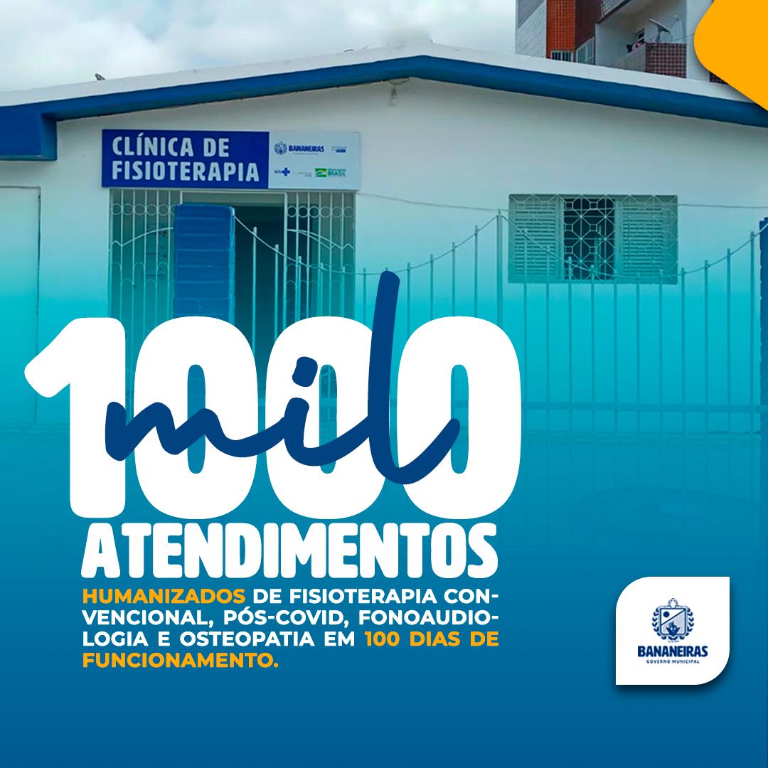 Gestão municipal comemora a marca de 1000 atendimentos de fisioterapia e fonoaudiologia em 100 dias de funcionamento